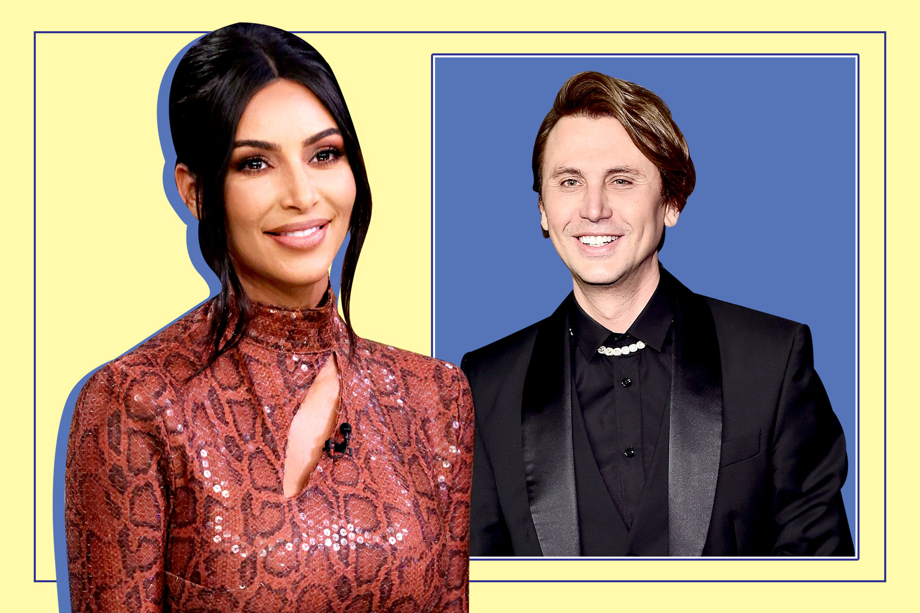 Kim Kardashian and Jonathan Cheban aka Foodgod