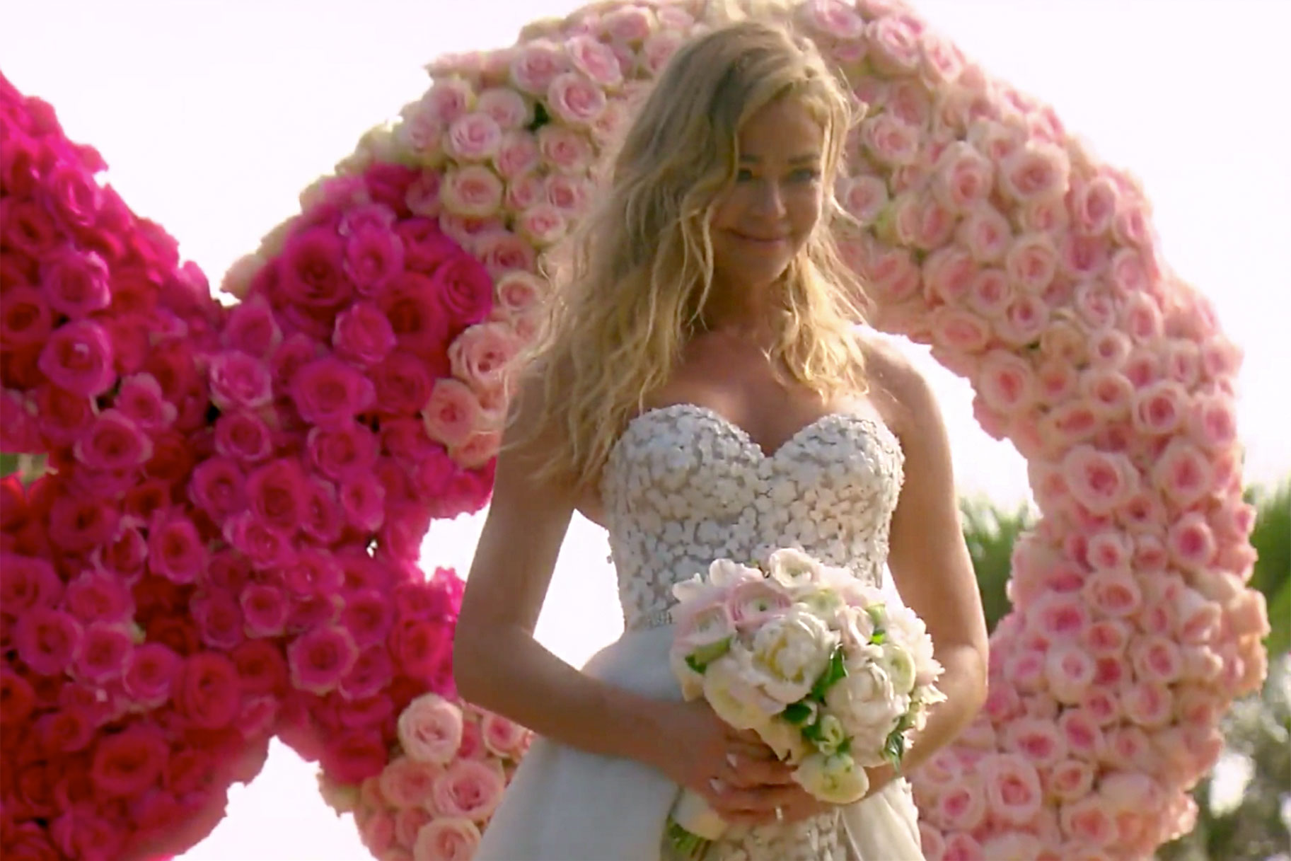 denise richards wedding dress romper