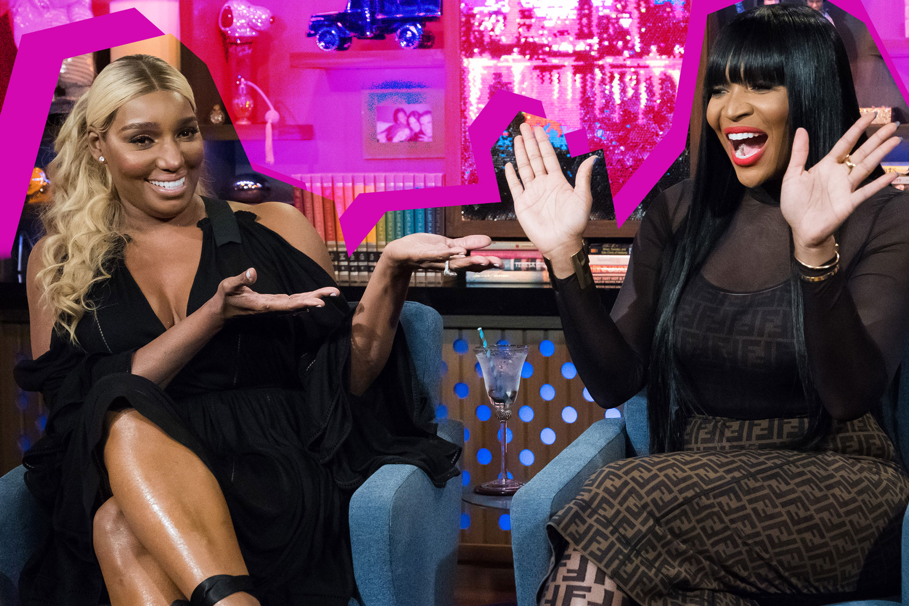 Nene Leakes and Marlo Hampton on Watch What Happens Live with Andy Cohen