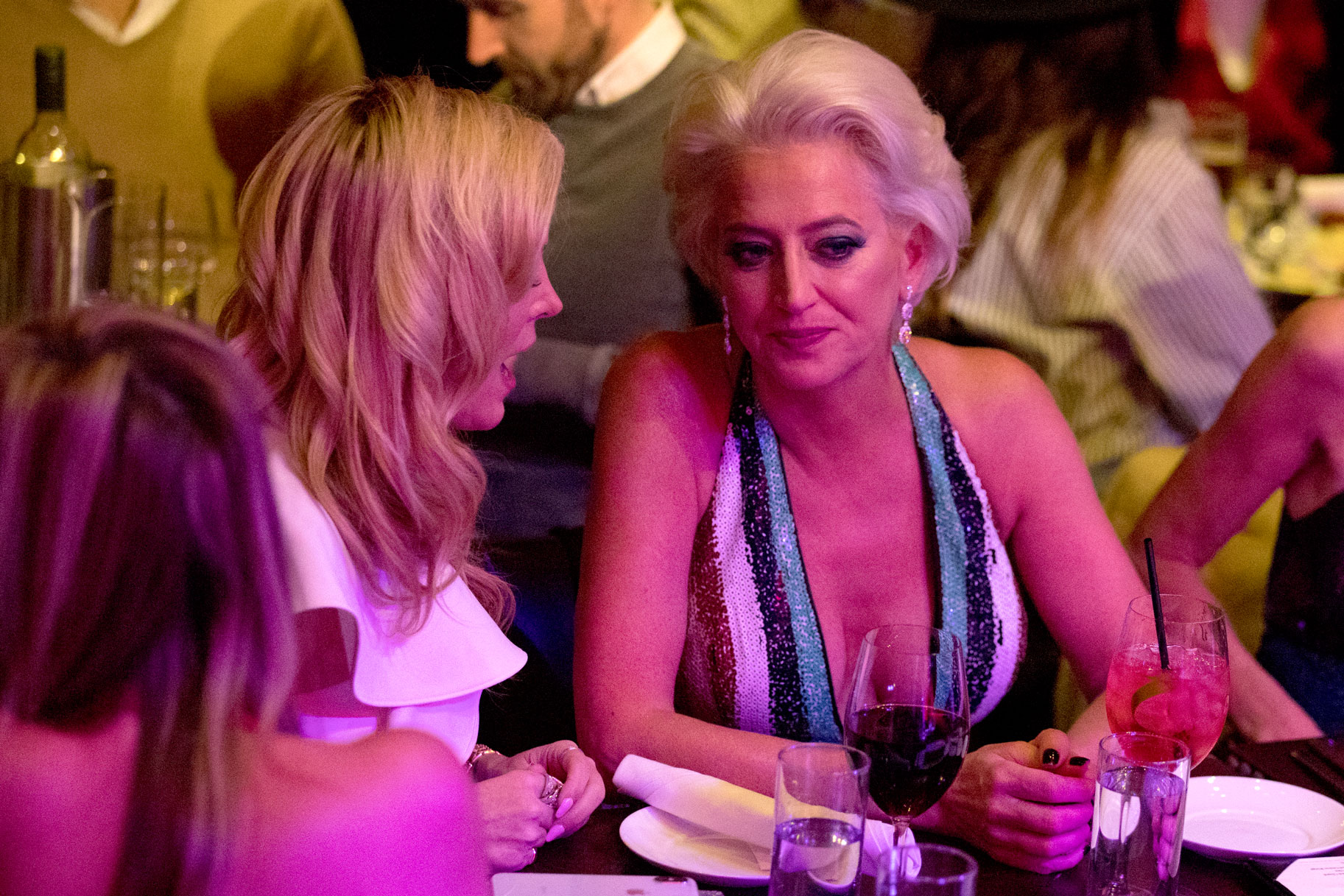 Dorinda Medley at Luann de Lesseps' Cabaret Show in Season 10 of The Real Housewives of New York City