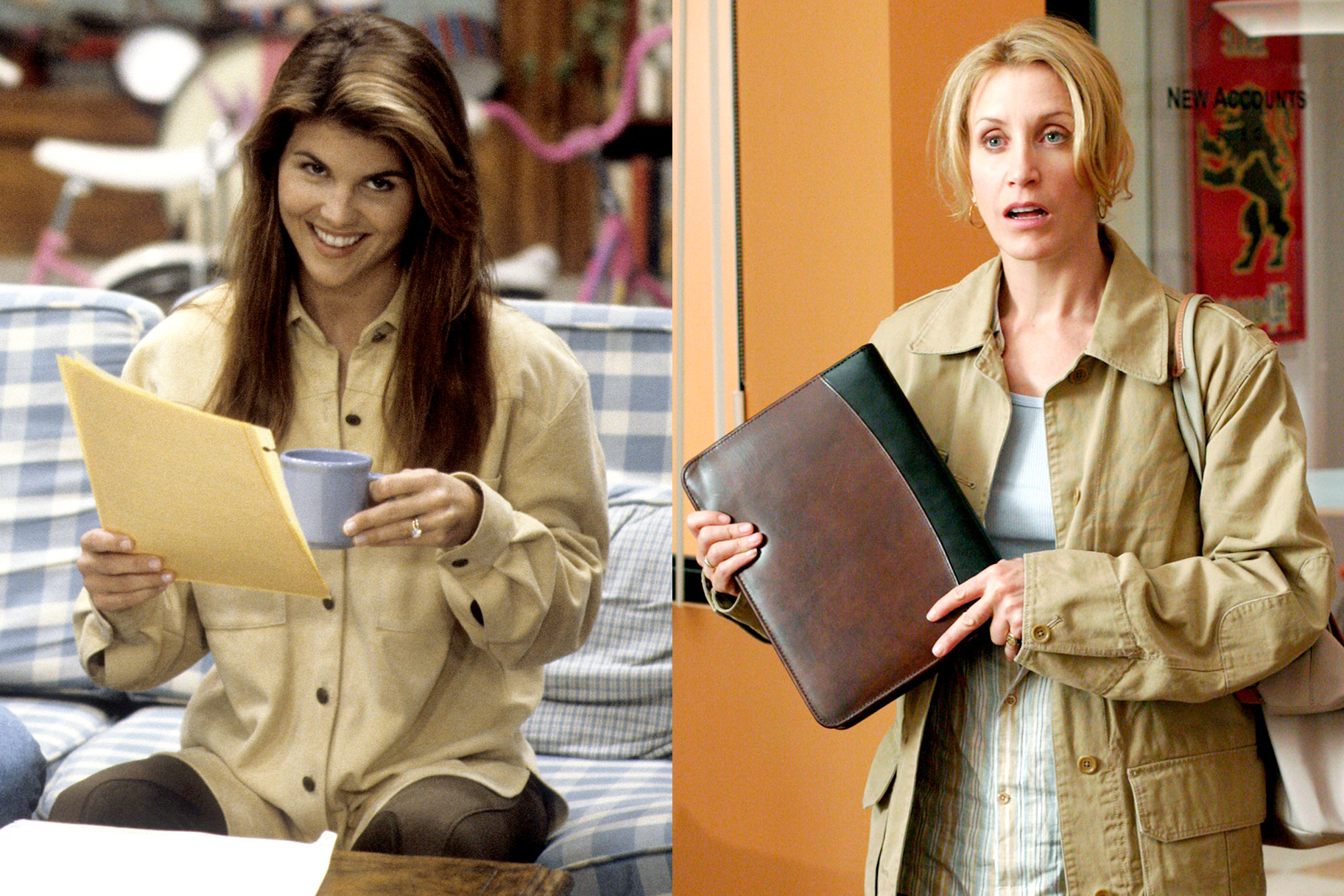 Lori Loughlin as Aunt Becky Katsopolis; Felicity Huffman as Lynette Scavo