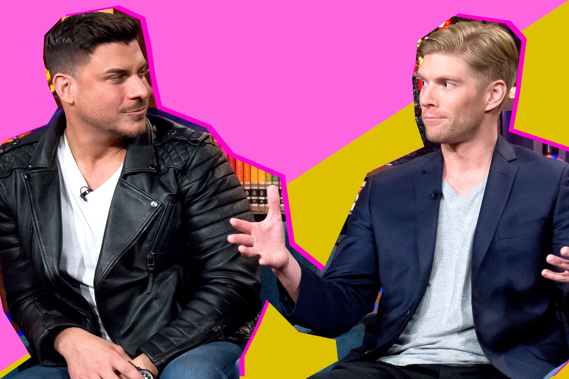 Jax Taylor and Kyle Cooke on Watch What Happens Live with Andy Cohen