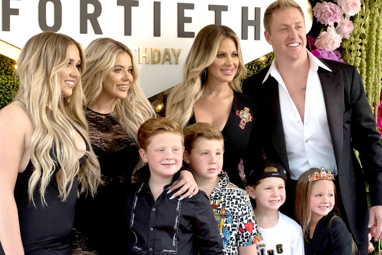 Kim Zolciak-Biermann and Kroy Biermann with Kids in Season 7 of Don't Be Tardy