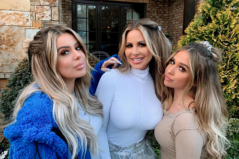 Kim Zolciak-Biermann and Ariana and Brielle Biermann