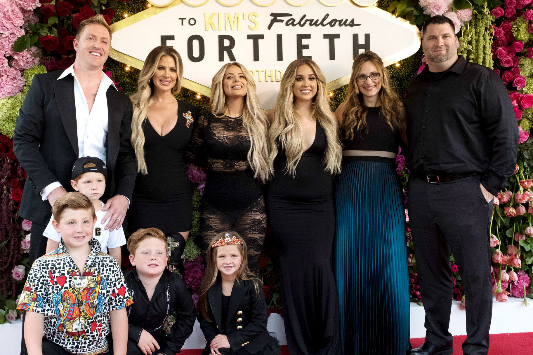 Kim Zolciak-Biermann with Family at her 40th birthday party