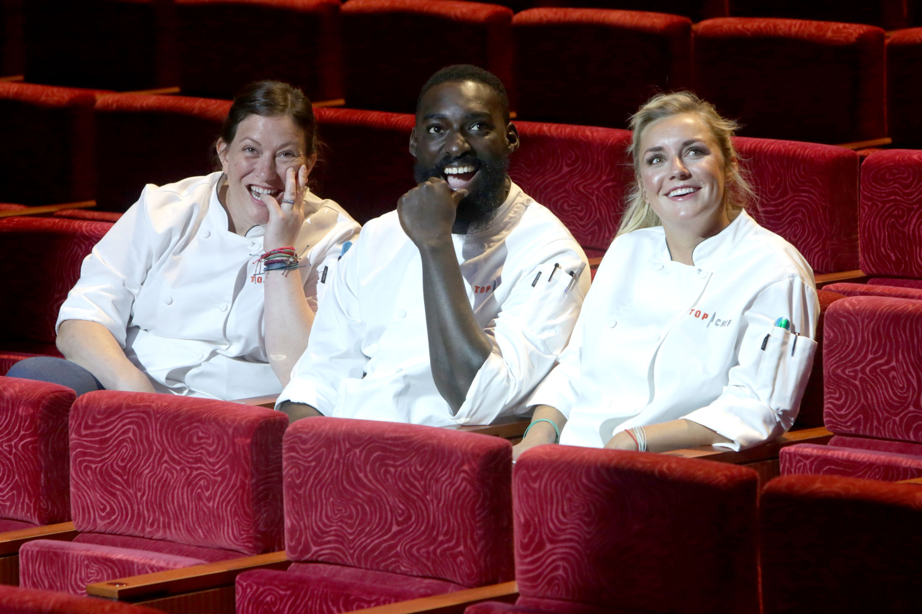 Sara Bradley, Eric Adjepong, and Kelsey Barnard Clark in Top Chef Season 16 Finale