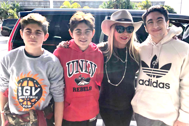 Adrienne Maloof Paul Nassif Sons Photo