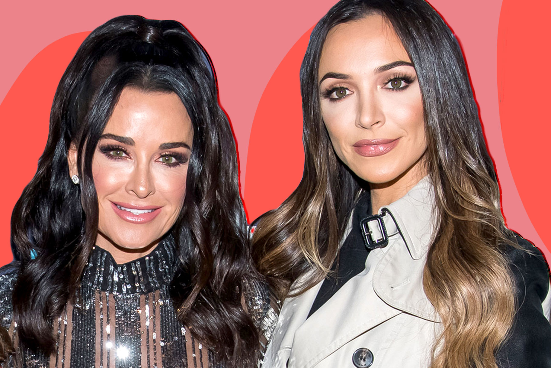 Kyle Richards and Farrah Aldjufrie