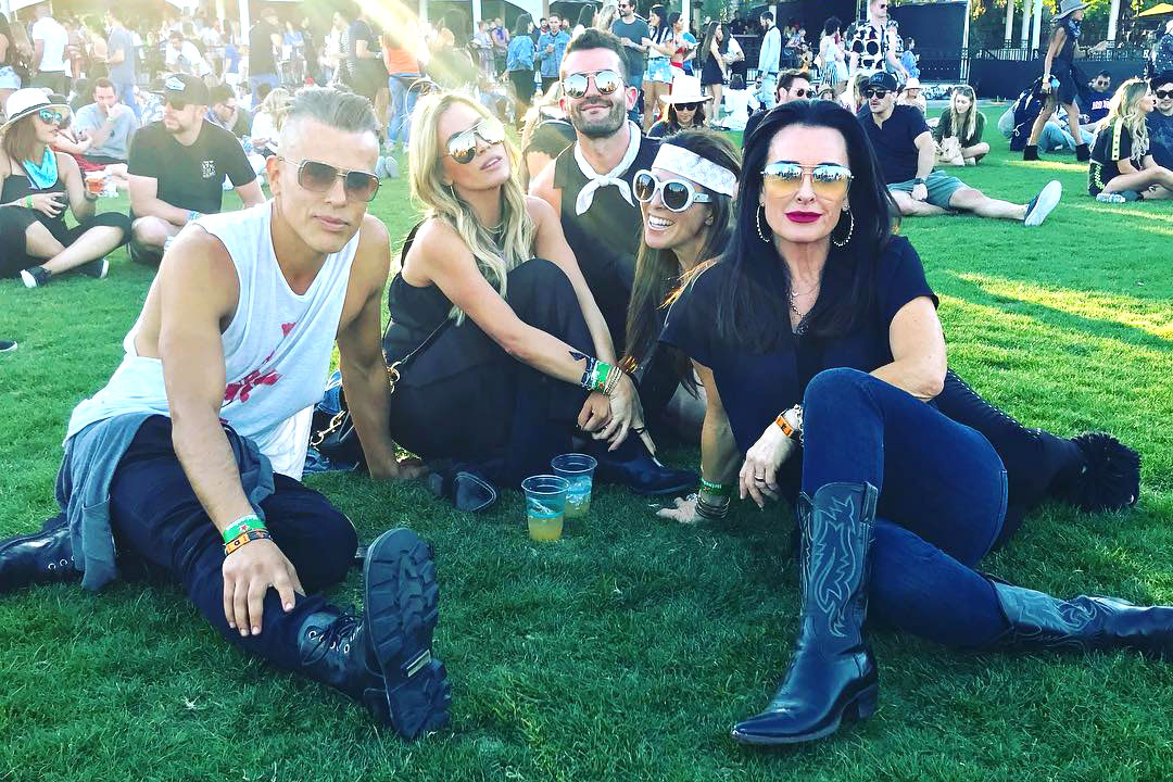 Kyle Richards, Teddi Mellencamp, Lisa Rinna at Coachella