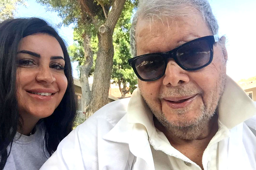 "Mercedes ""MJ"" Javid with Father Shams Javid"