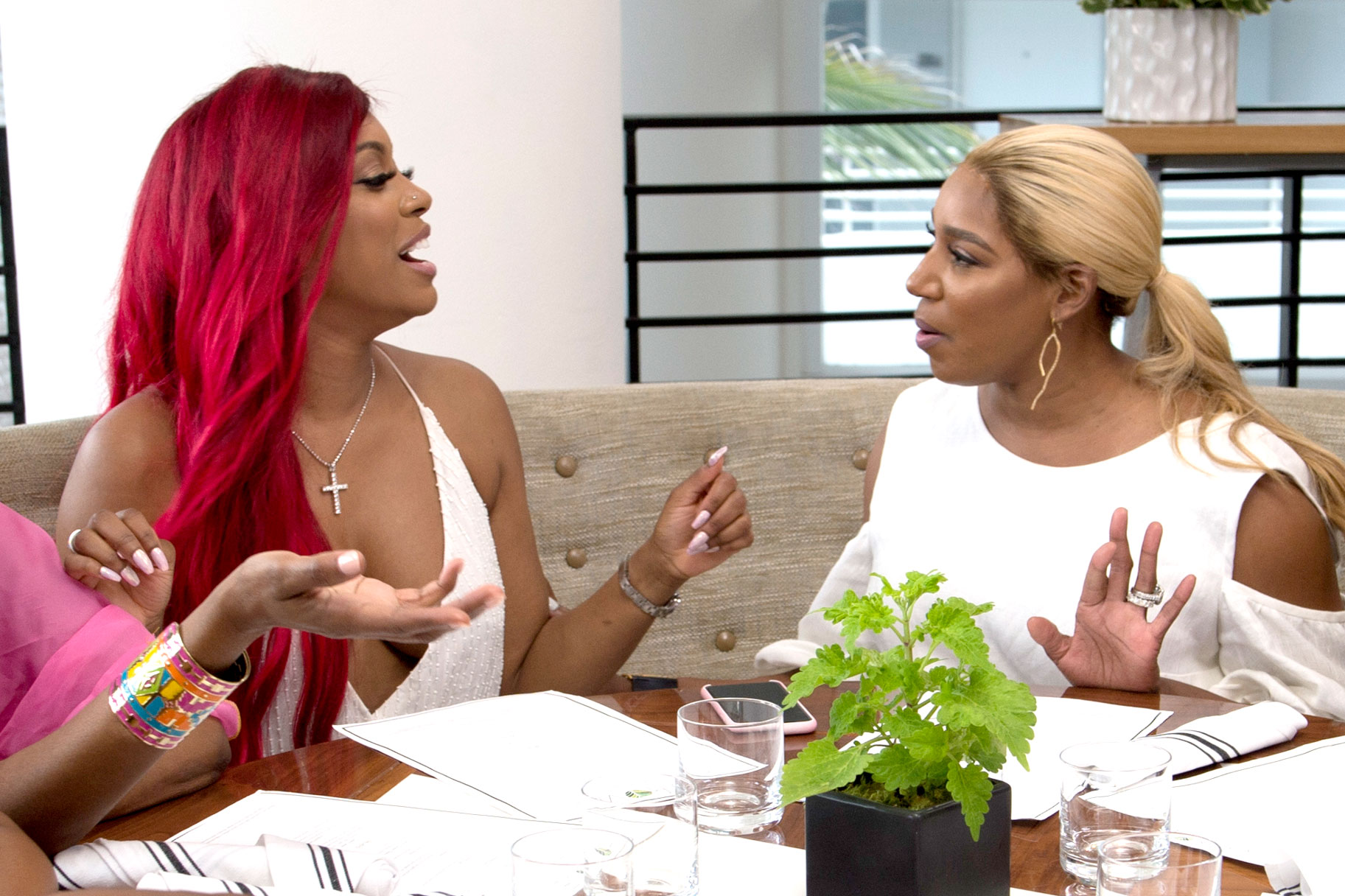 Porsha Williams and Nene Leakes on The Real Housewives of Atlanta