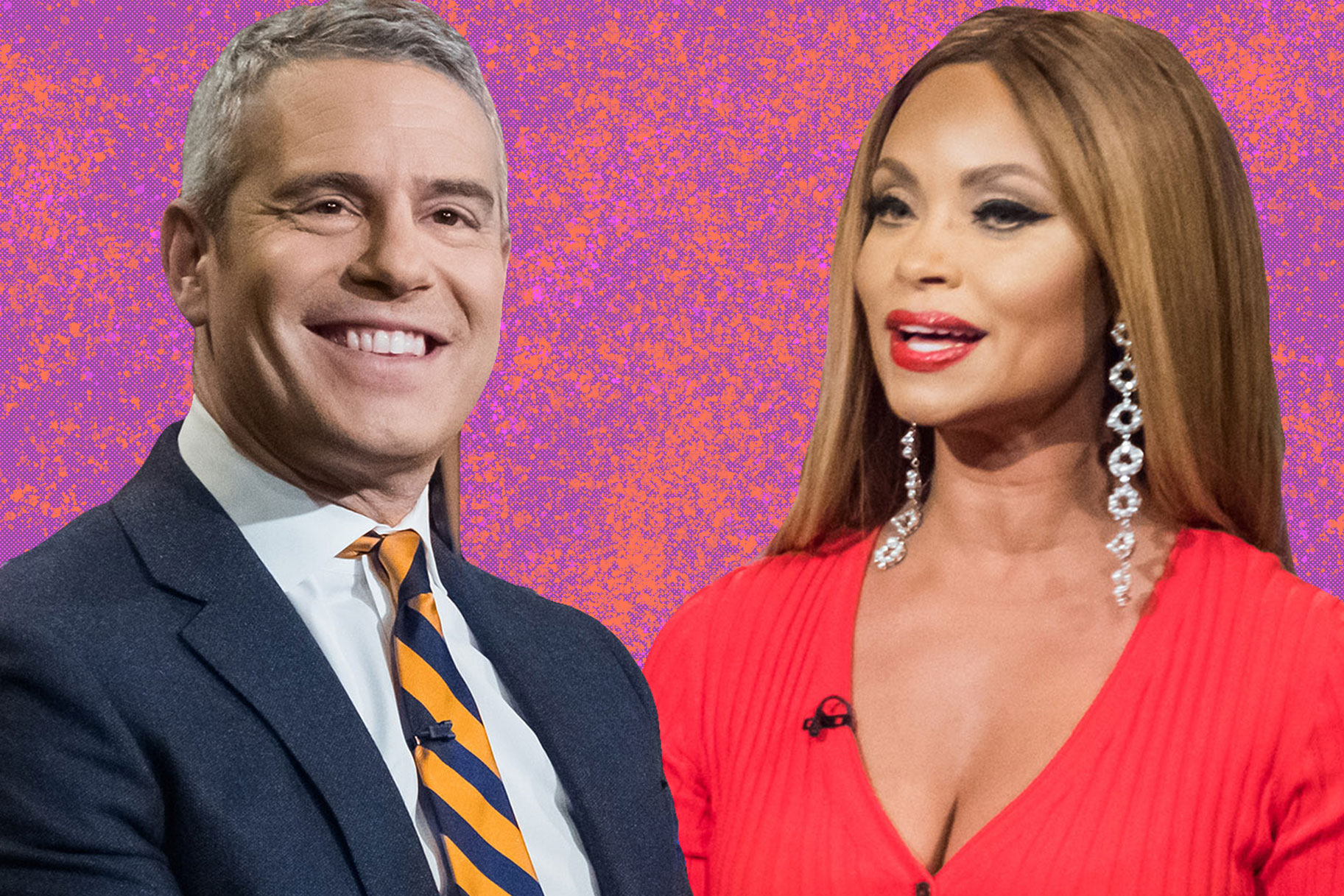 Andy Cohen and Gizelle Bryant