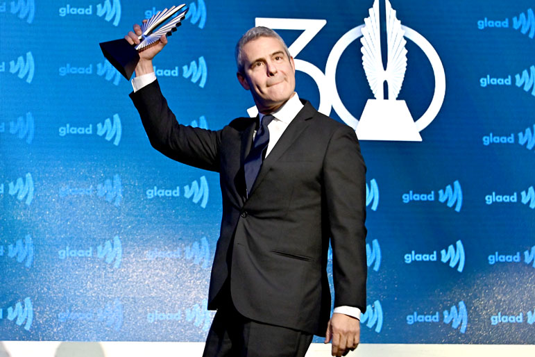 Andy Cohen at the 30th Annual GLAAD Media Awards