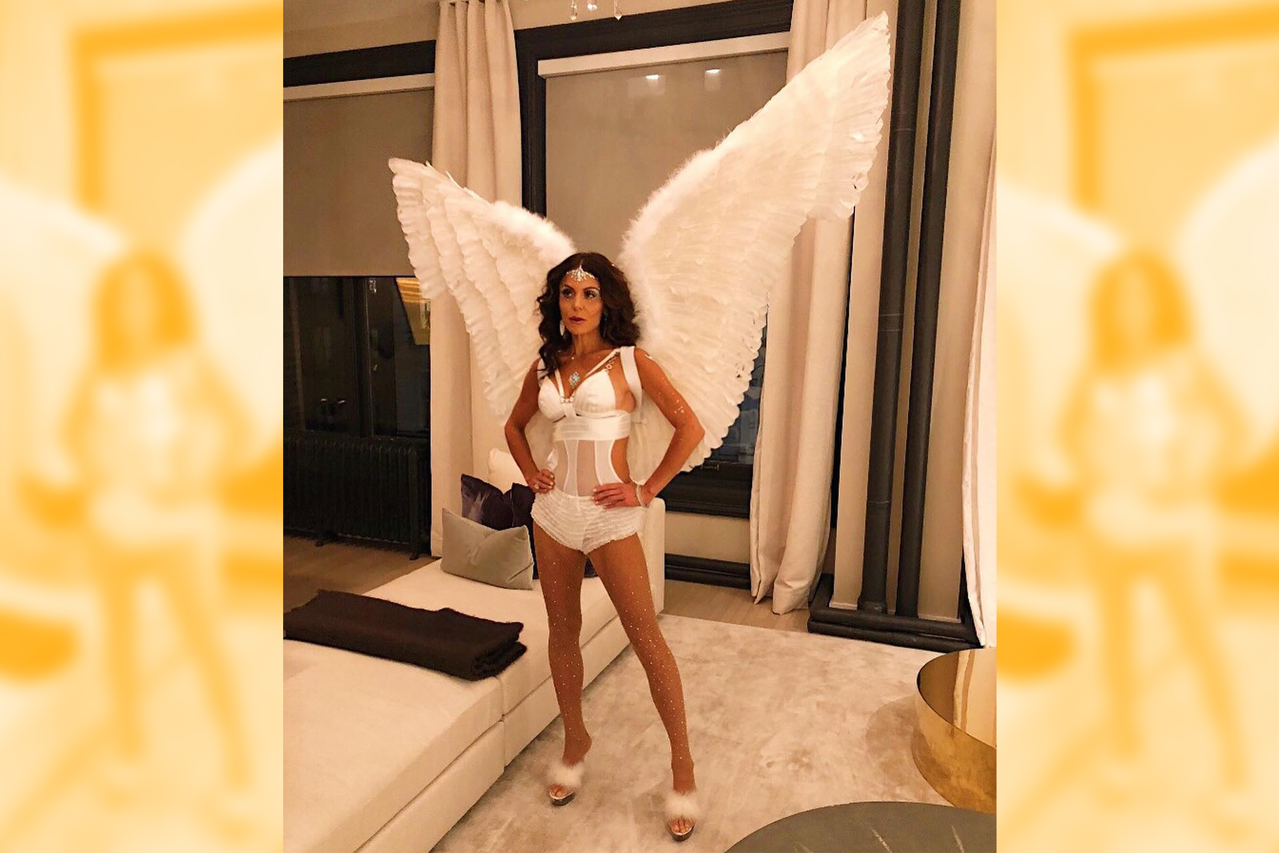 bethenny frankel angel costume