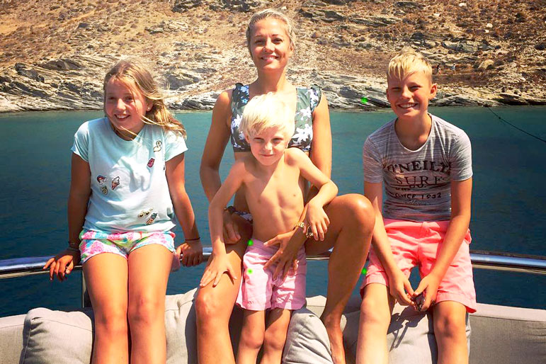 Caroline Fleming with Her Children