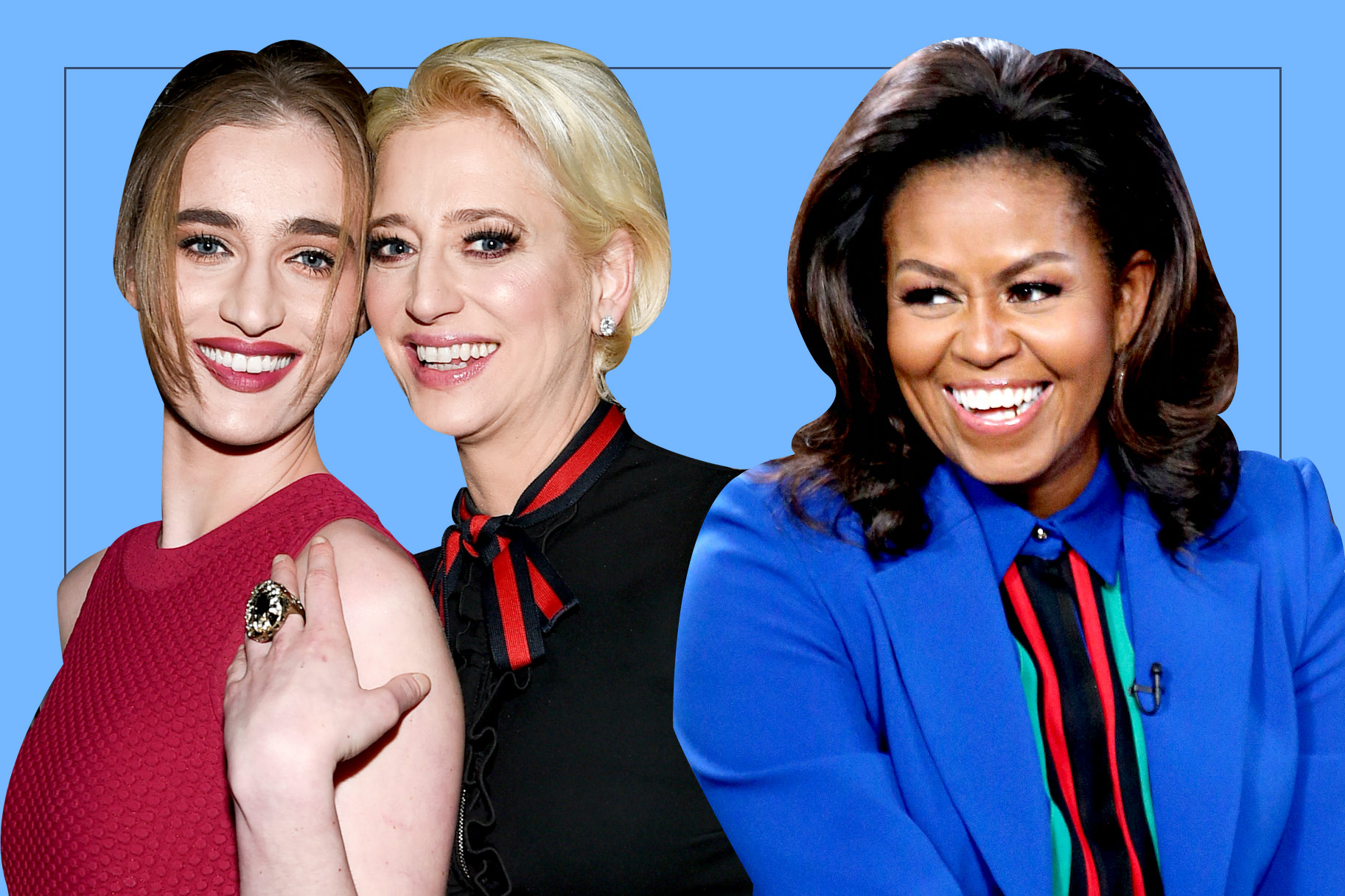 Hannah Lynch, Dorinda Medley, and Michelle Obama