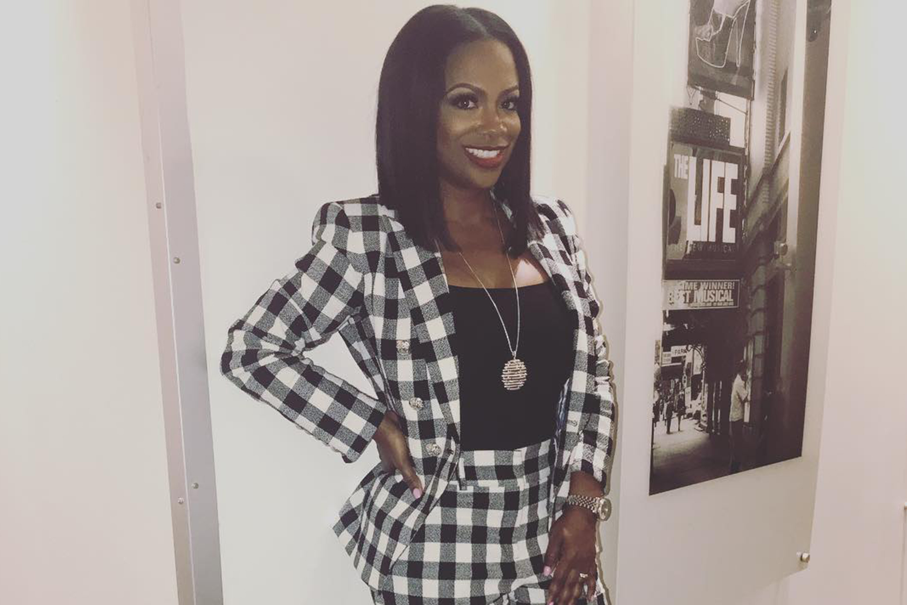 Kandi Burruss Plaid