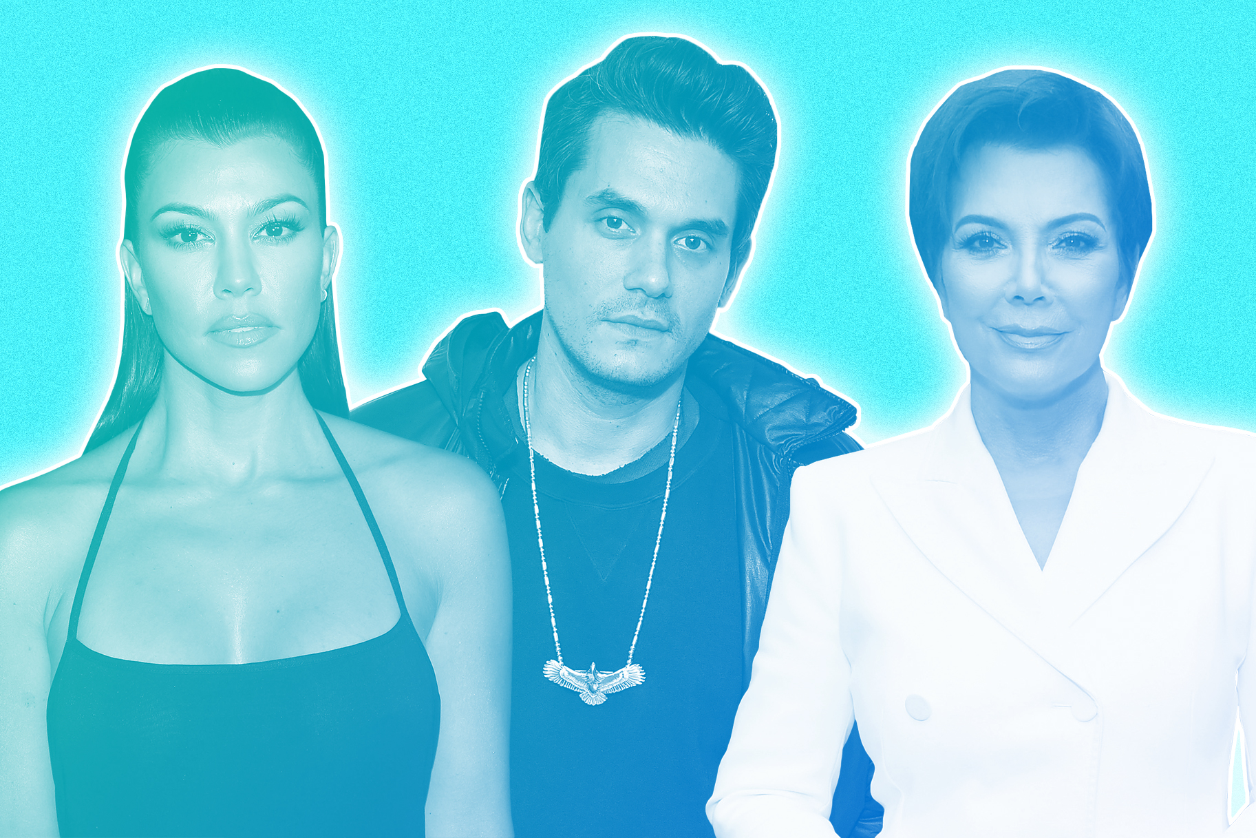 Kourtney Kardashian, John Mayer, Kris Jenner