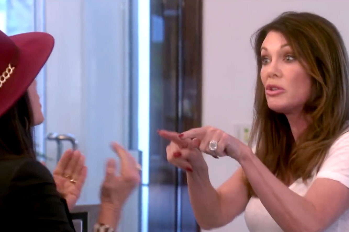 Lisa Vanderpump and Kyle Richards Fight in The Real Housewives of Beverly Hills Season 9