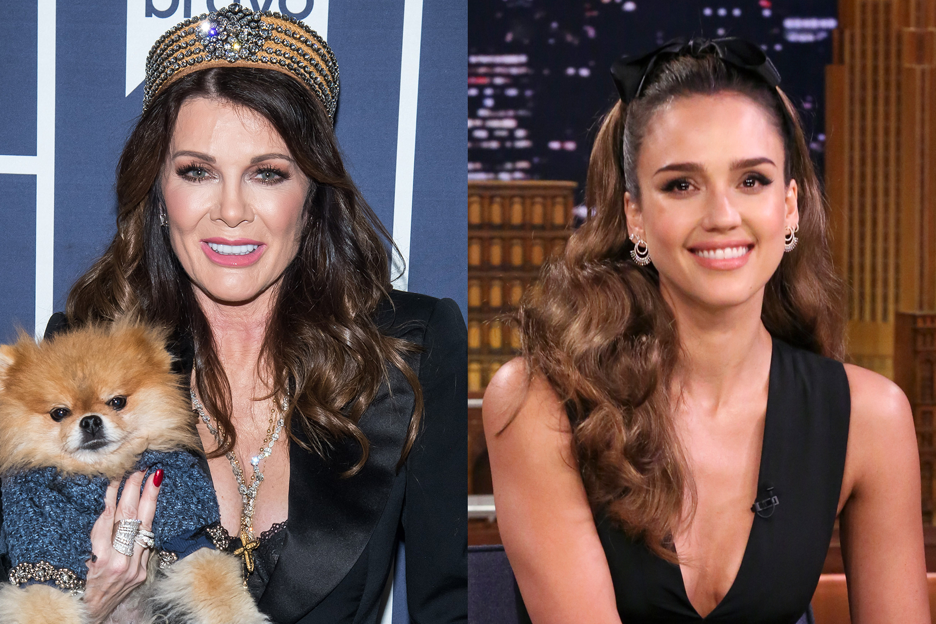 Lisa Vanderpump and Jessica Alba