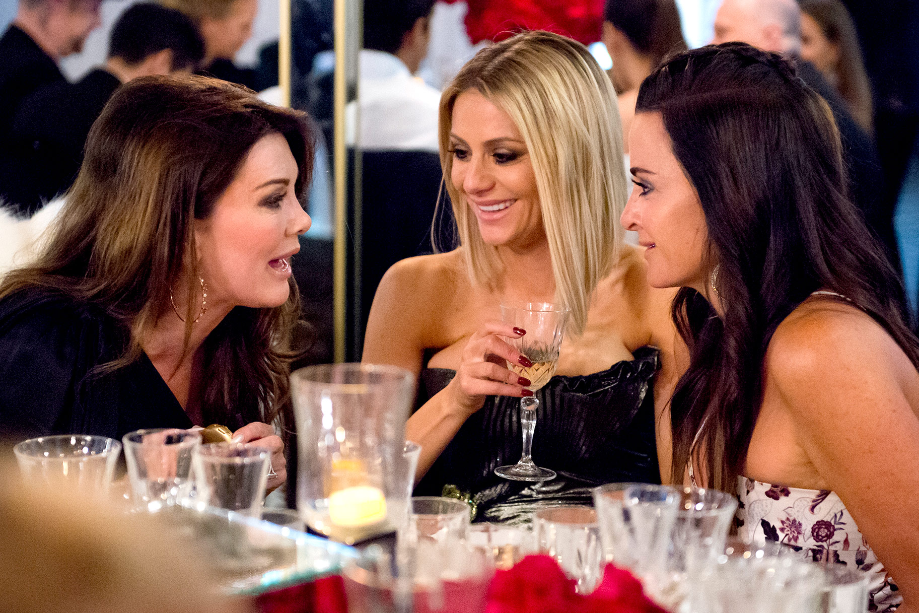 Lisa Vanderpump, Dorit Kemsley, and Kyle Richards on The Real Housewives of Beverly Hills