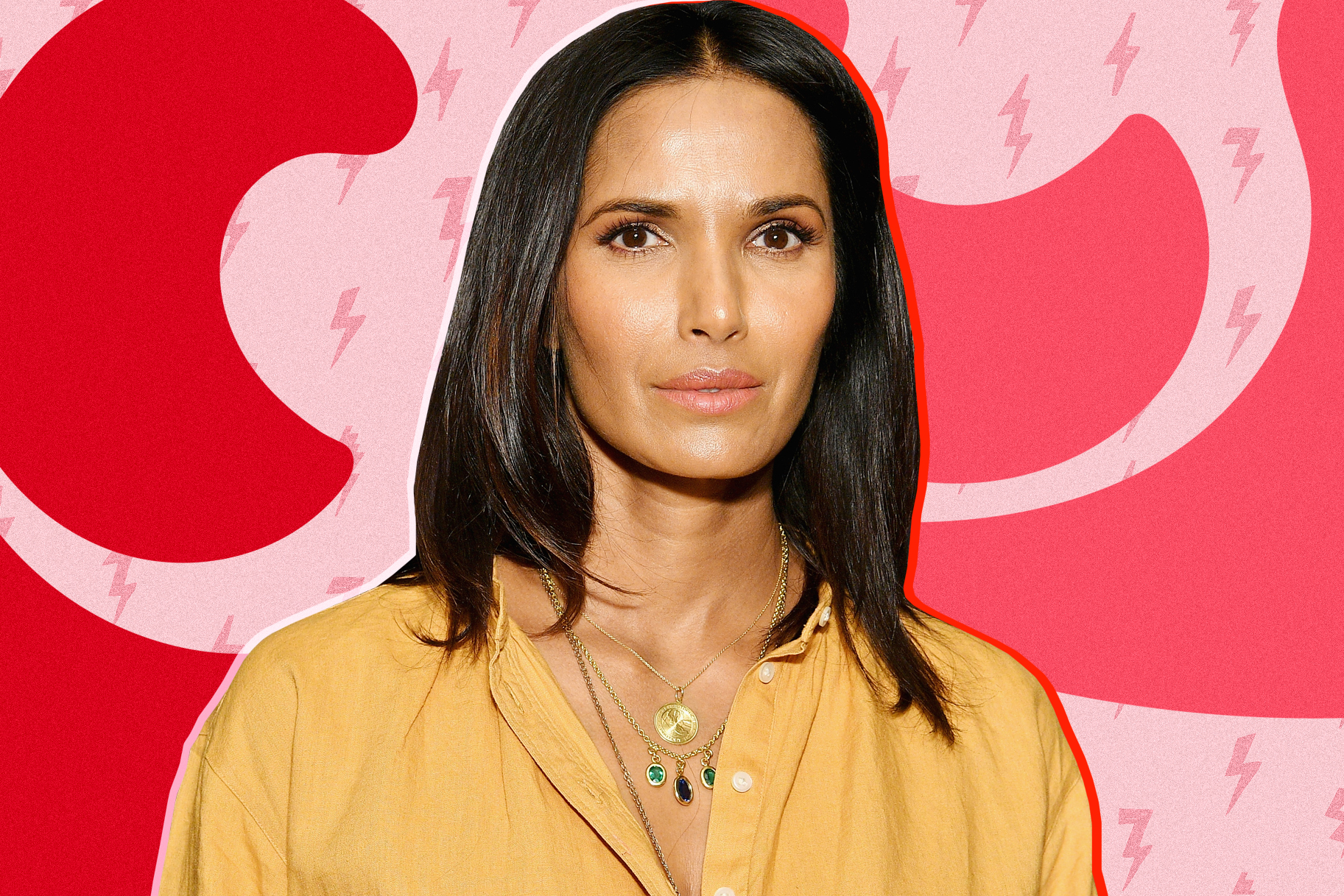 1663a8adfc8 Padma Lakshmi Poses Nude for the Cover of Vogue India