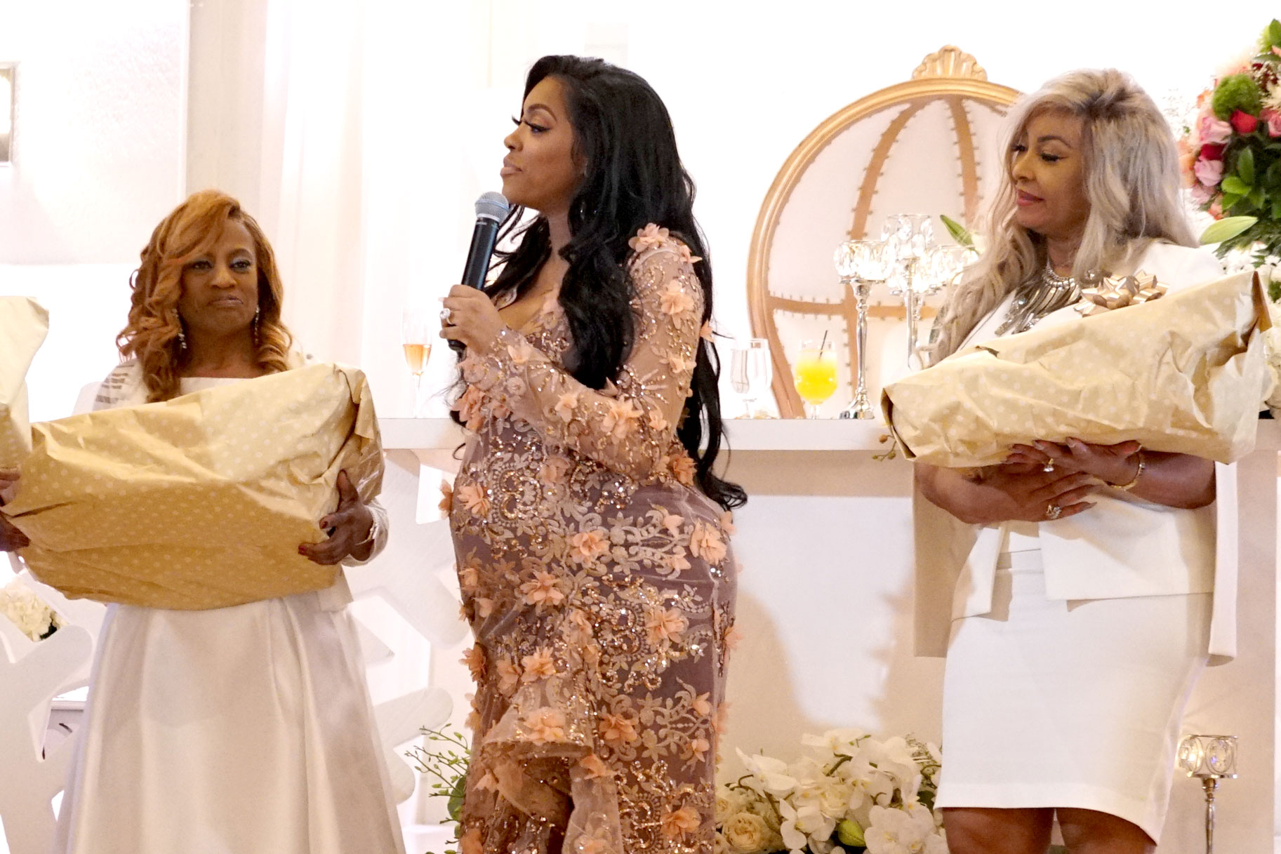 Porsha Williams with Mother Diane and Mother-in-Law Gina