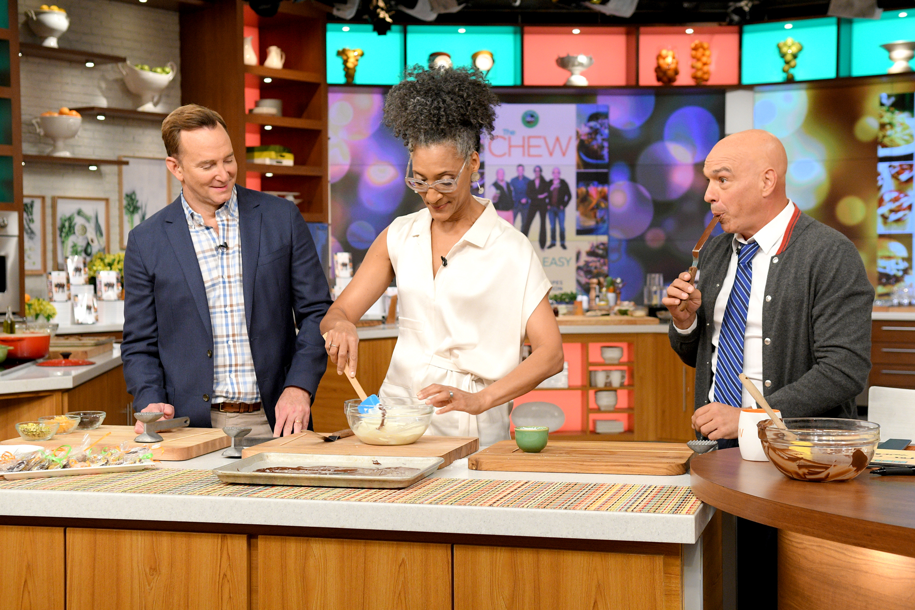 The Chew Hosts: Carla Hall, Clinton Kelly, Michael Symon