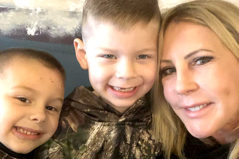 Vicki Gunvalson and grandsons