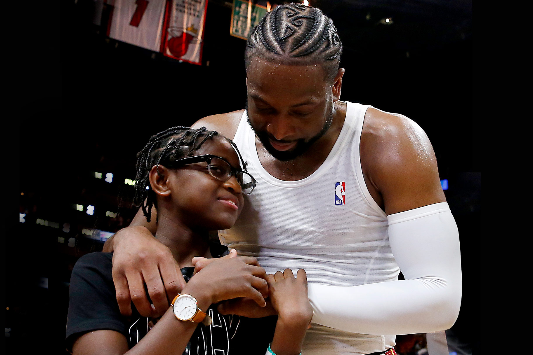 Dwyane Wade and son Zion