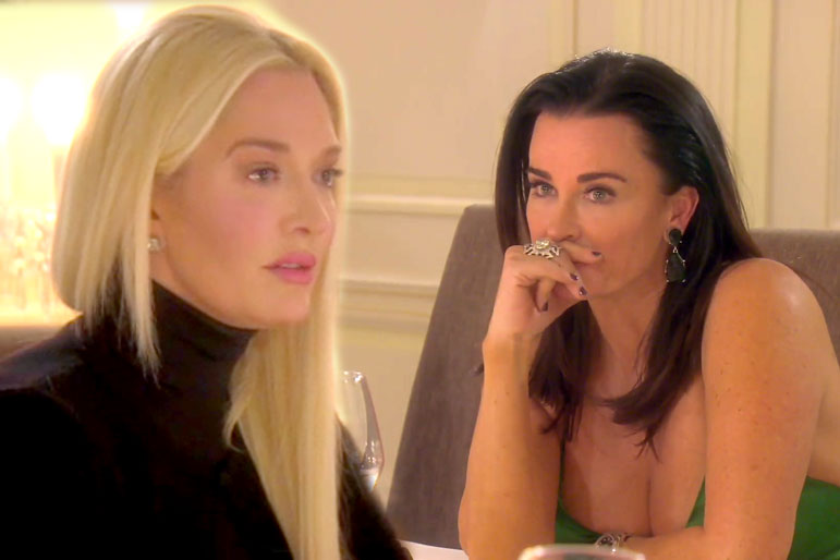 Erika Girardi and Kyle Richards in The Real Housewives of Beverly Hills Season 9