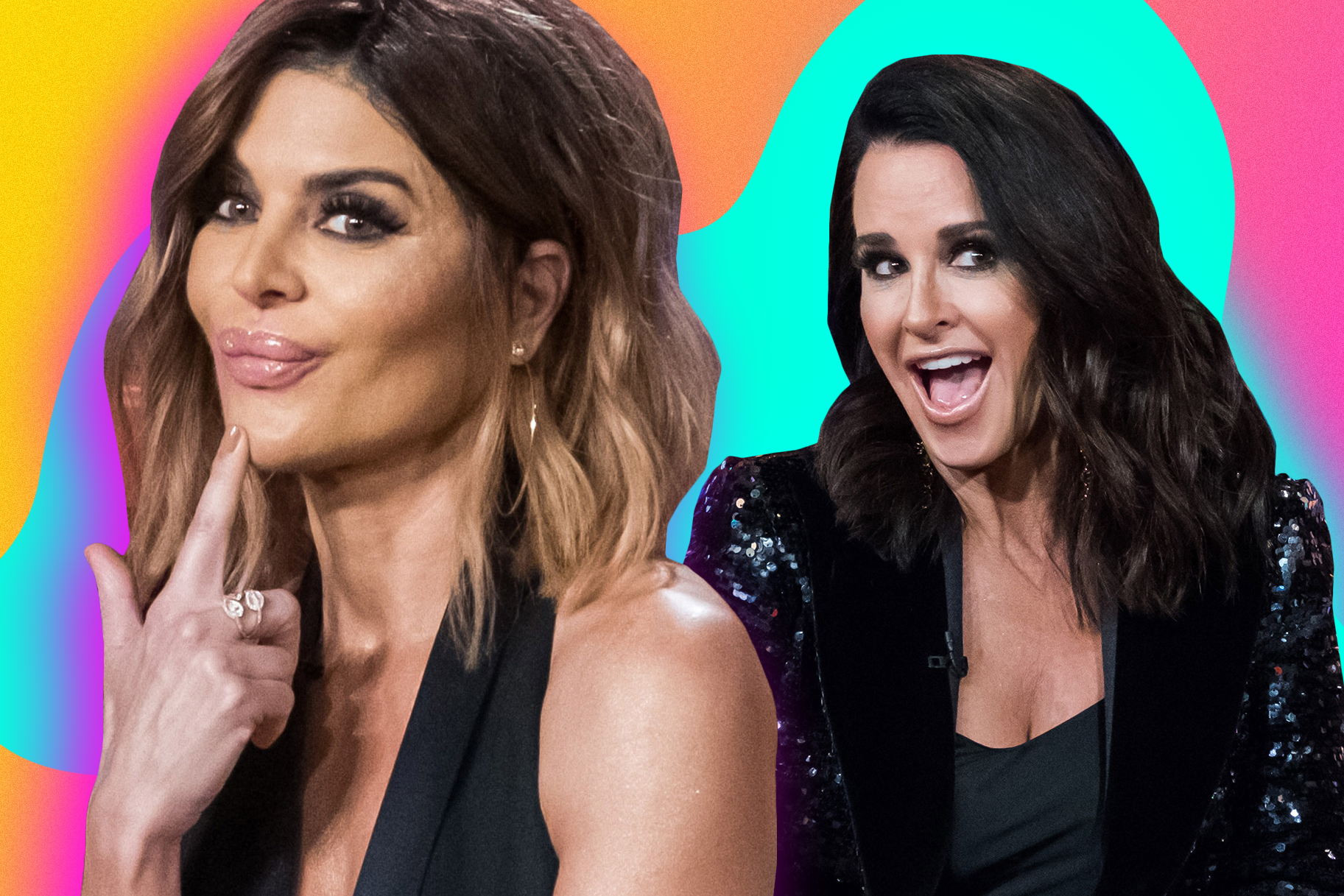 Lisa Rinna and Kyle Richards