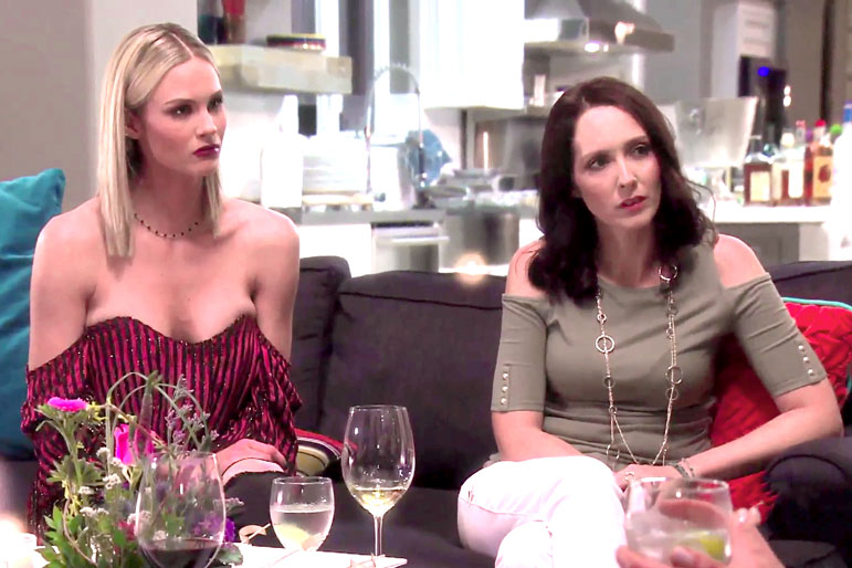 Meghan King Edmonds and Mystic Michaela in The Real Housewives of Orange County Season 12