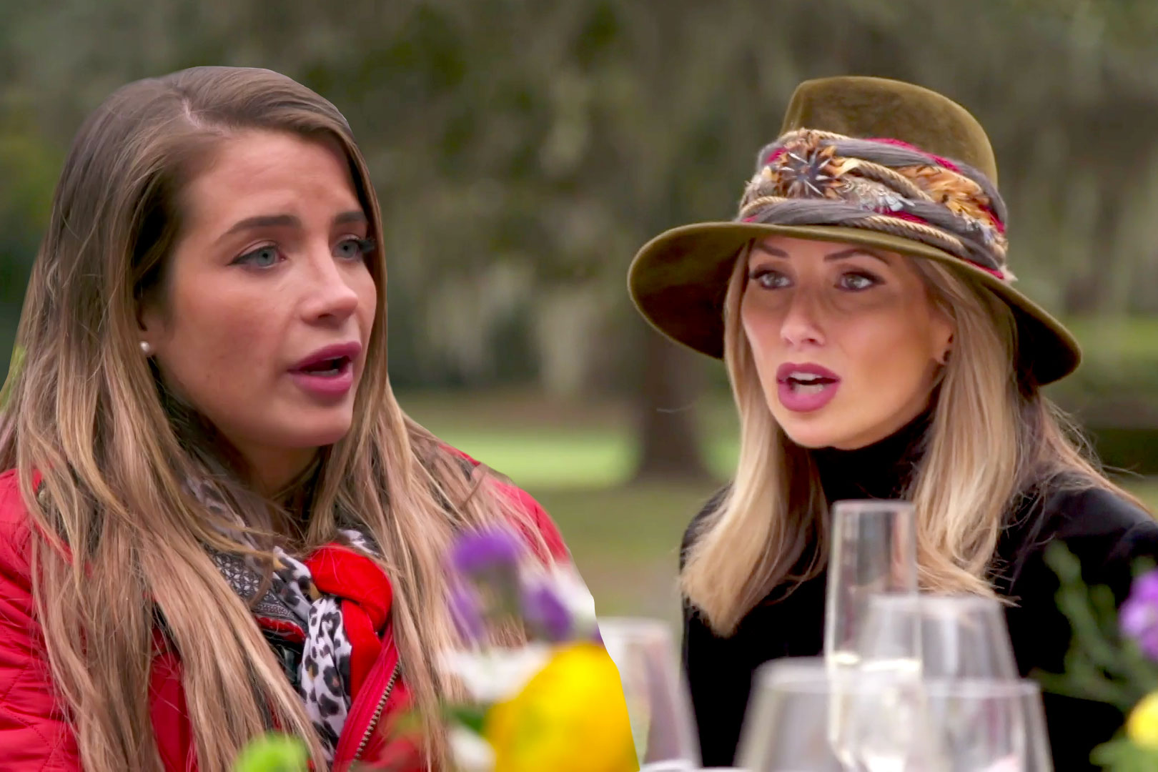Naomie Olindo and Ashley Jacobs in Southern Charm Season 6