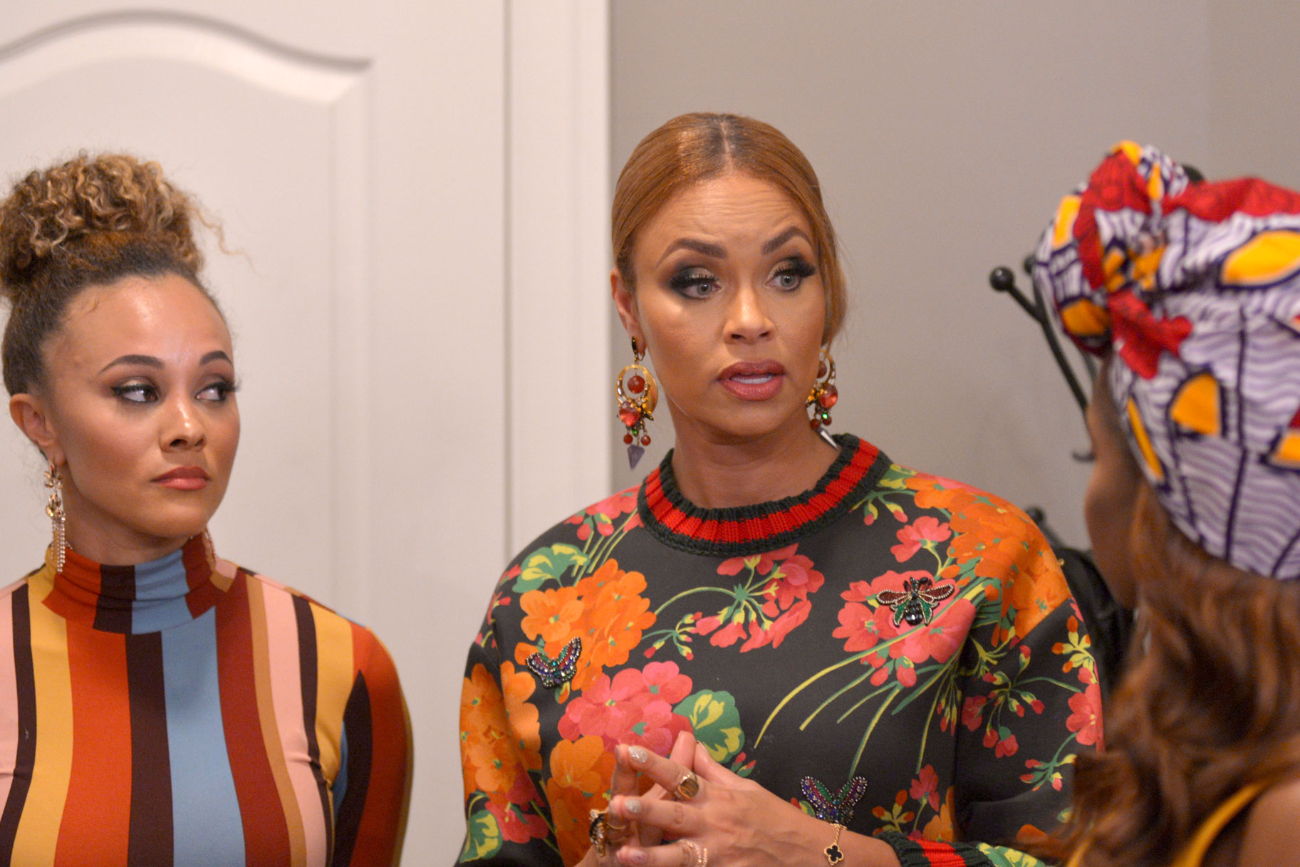 Ashley Darby, Gizelle Bryant, and Candiace Dillard Bassett in The Real Housewives of Potomac Season 4