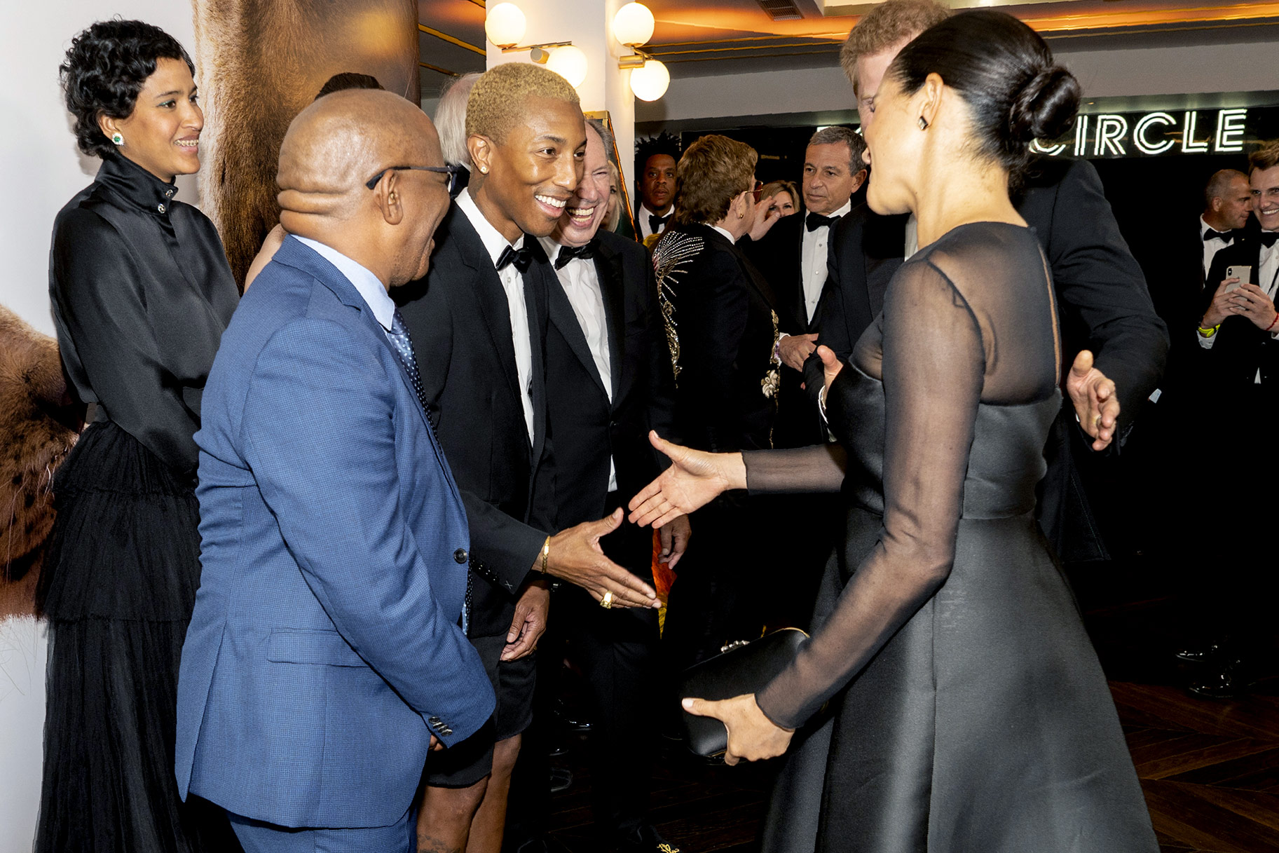 Pharrell Williams and Meghan Markle