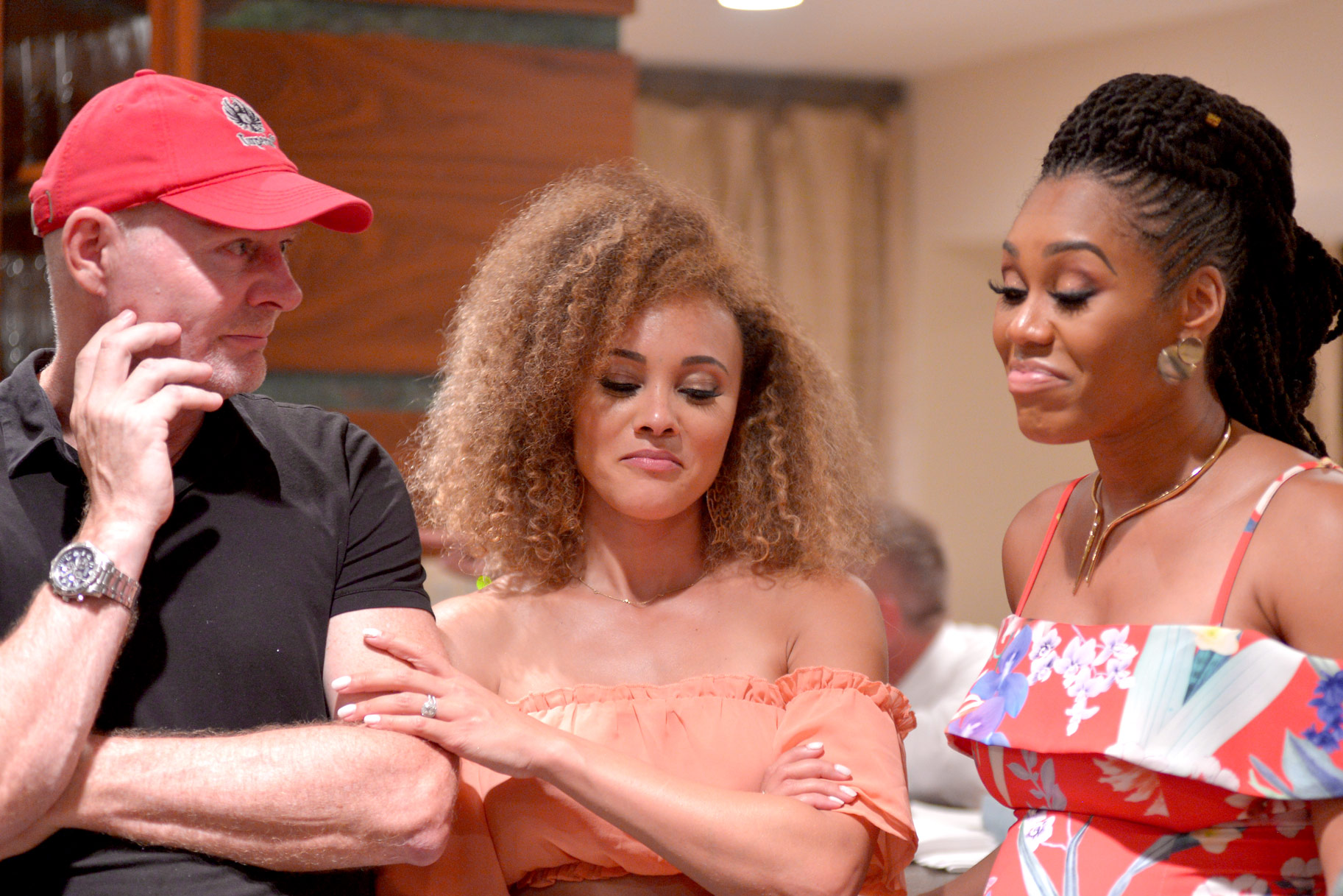 Michael Darby, Ashley Dary, Monique Samuels in The Real Housewives of Potomac Season 4