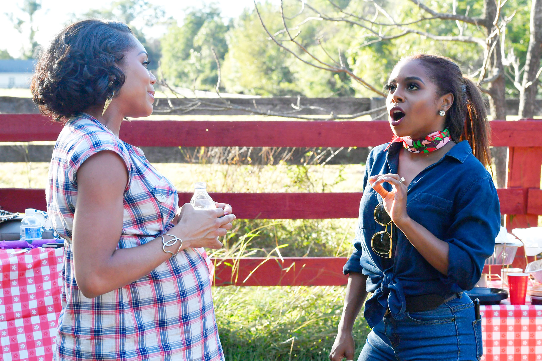 Monique Samuels and Candiace Dillard Basset in The Real Housewives of Potomac Season 4