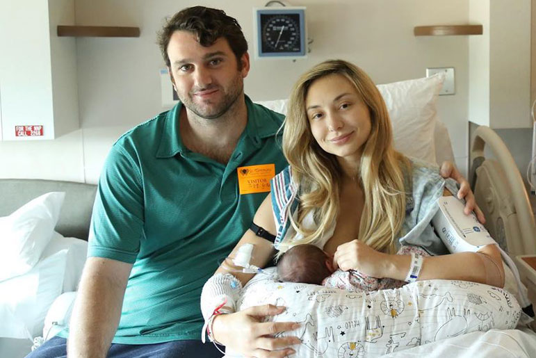 Reagan Charleston with Husband Reece Thomas and Daughter Reece Ellis Thomas