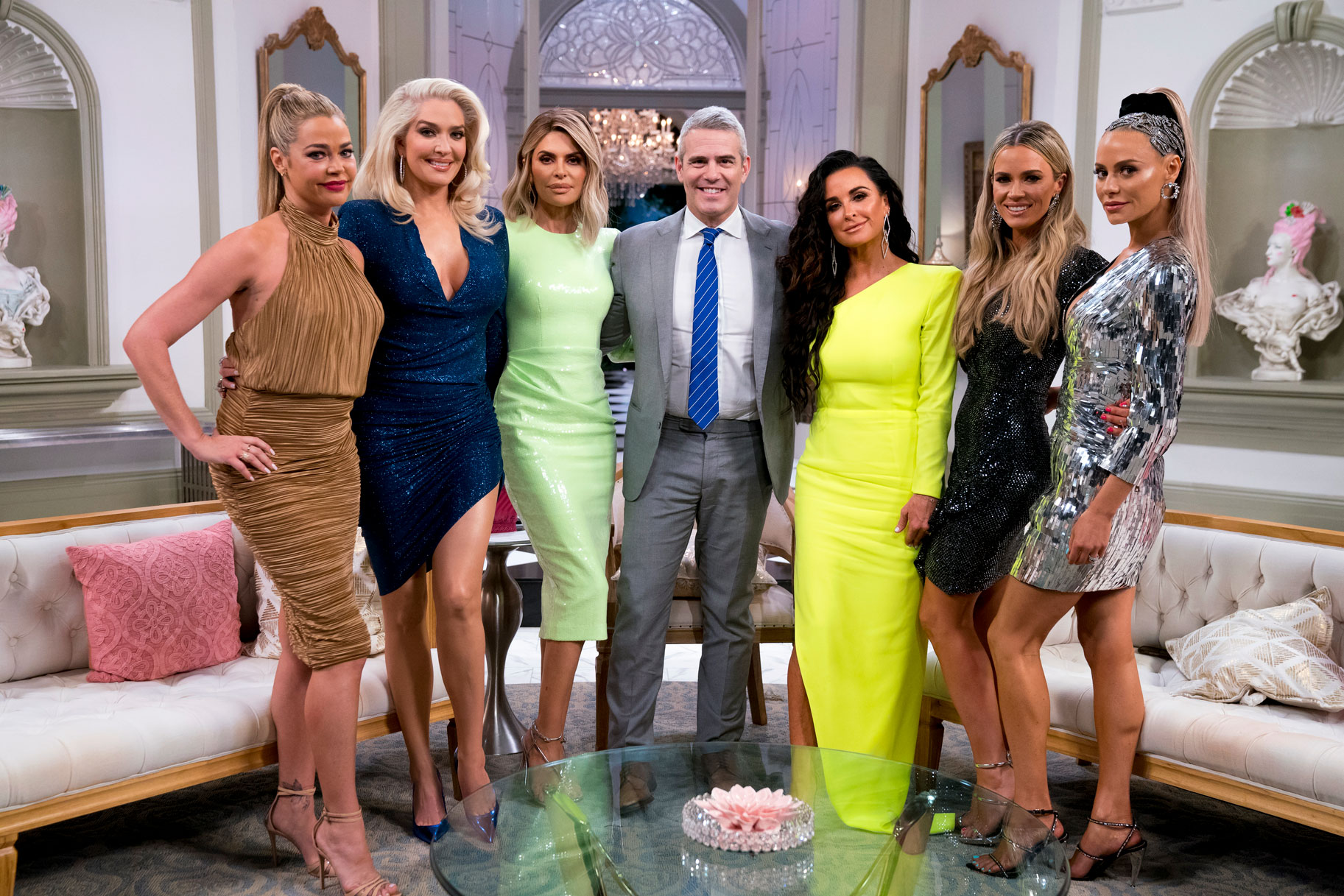 Andy Cohen with The Real Housewives of Beverly Hills Cast at the Season 9 Reunion