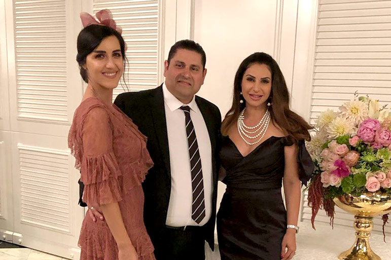 Jennifer Aydin with brother Michael and sister-in-law Melda