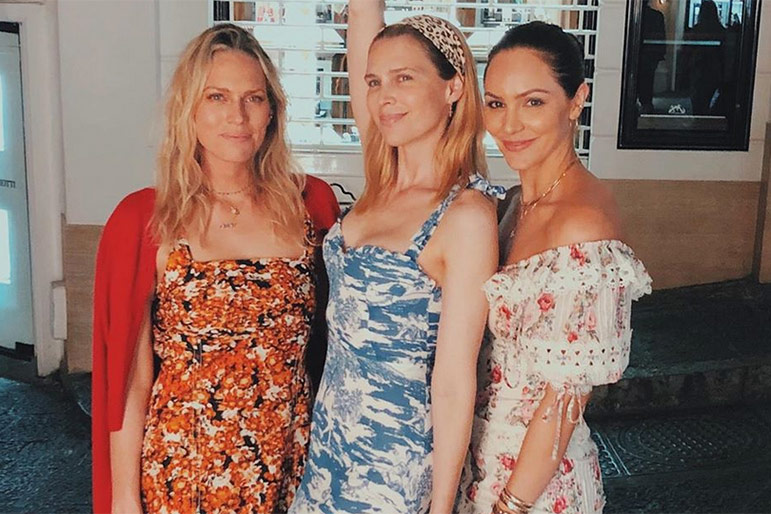 Erin and Sara Foster and Katharine McPhee