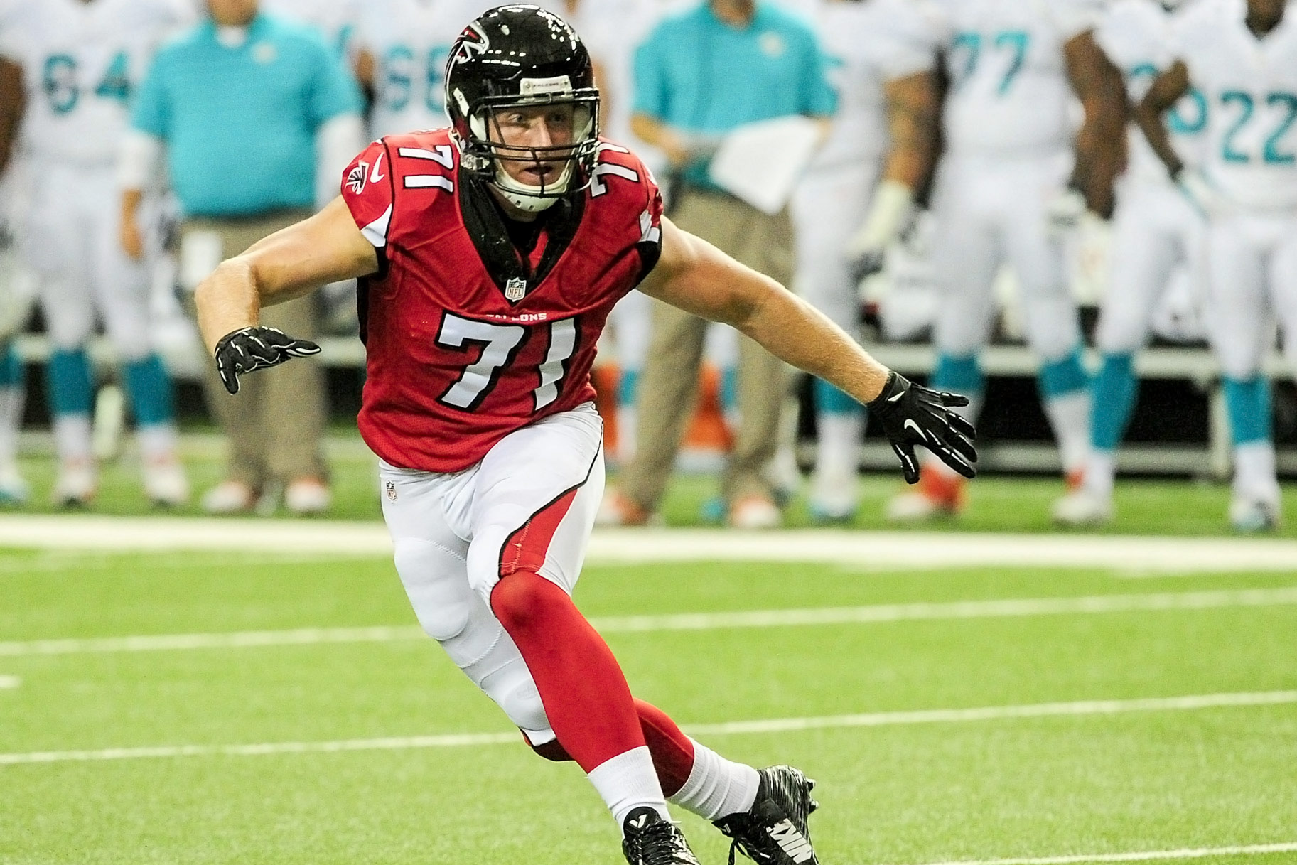 Kroy Biermann Playing Football for the Atlanta Falcons