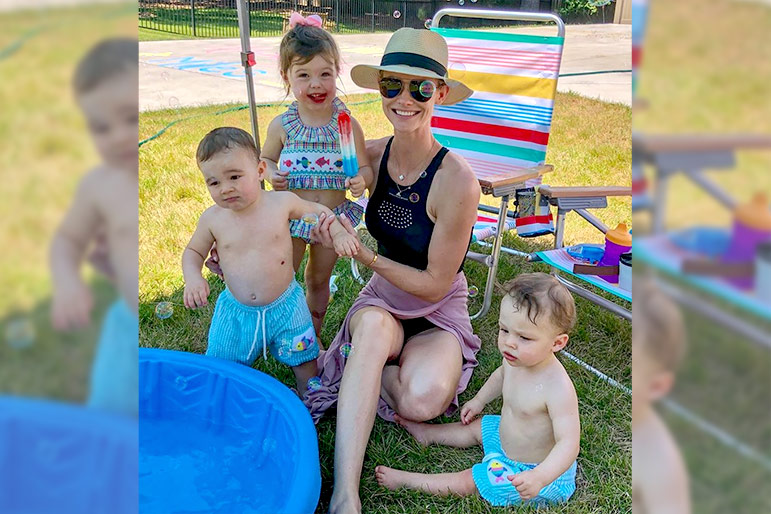 Meghan King Edmonds with Her Children