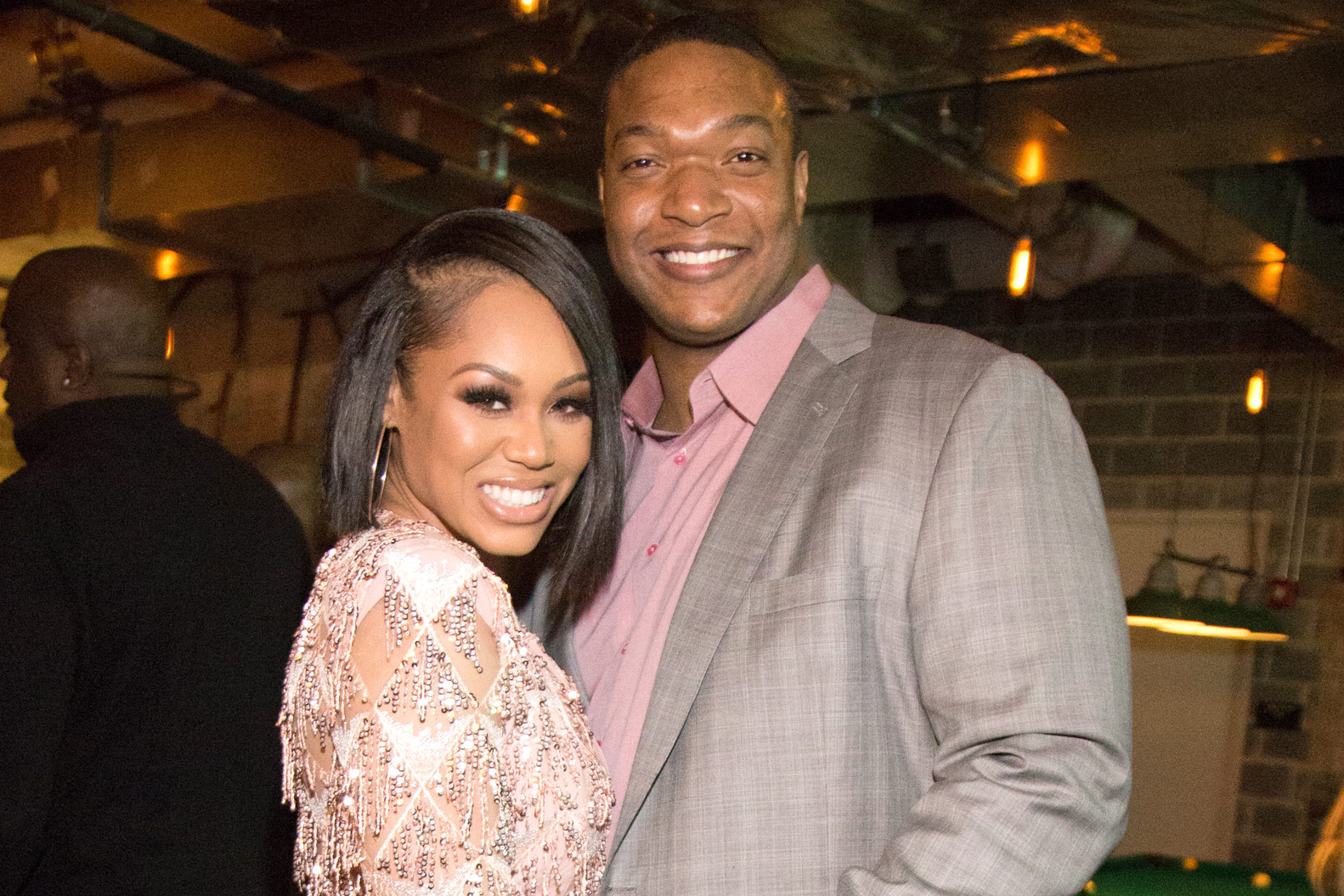 Monique Samuels with Husband Chris Samuels