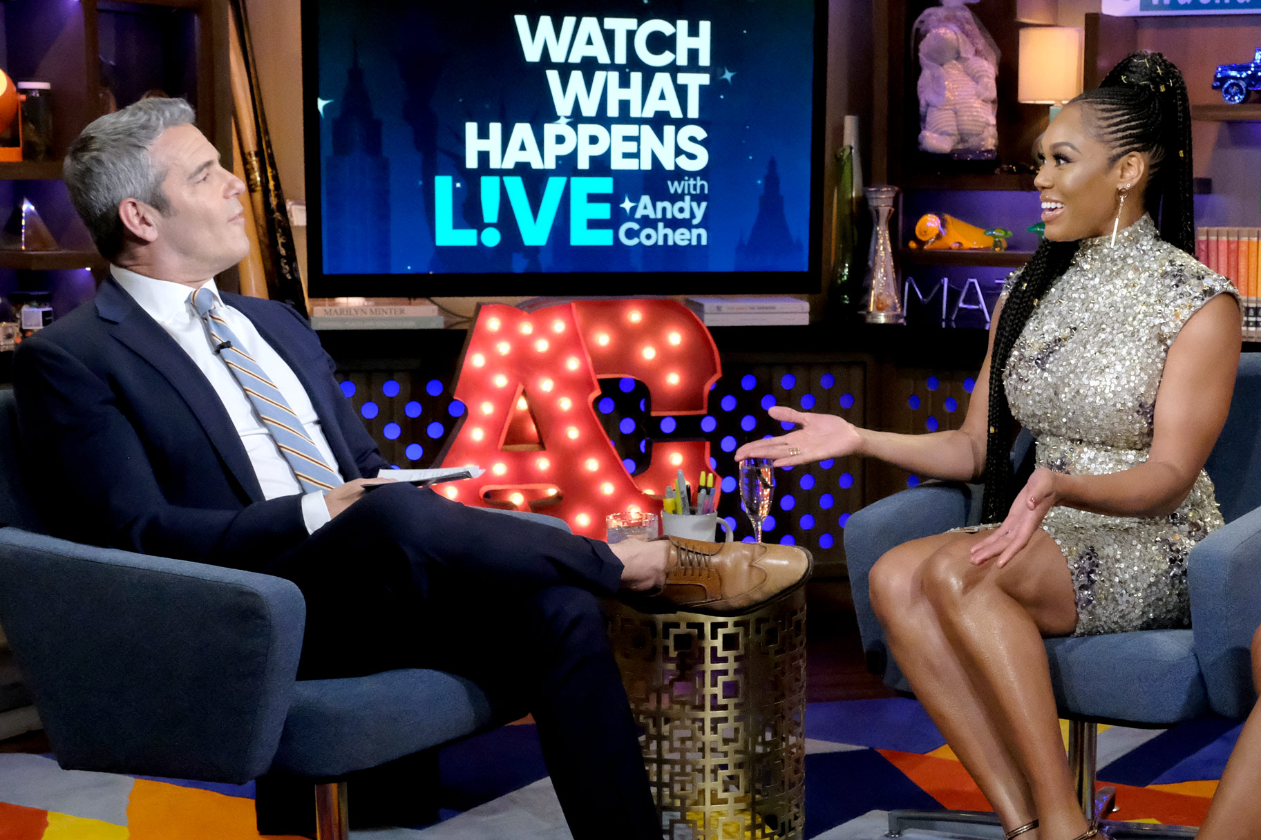 Monique Samuels on Watch What Happens Live with Andy Cohen
