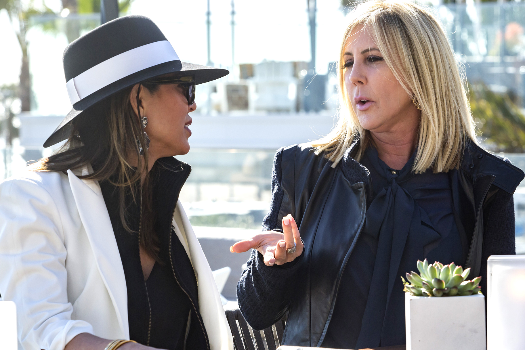 Kelly Dodd and Vicki Gunvalson on The Real Housewives of Orange County