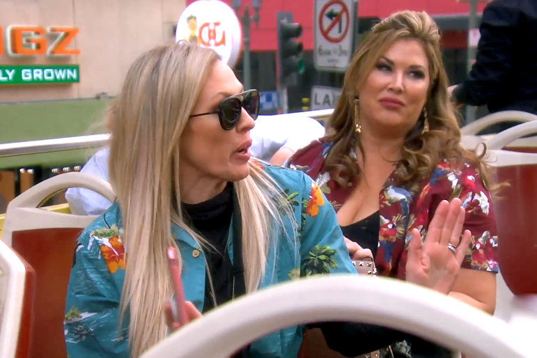 Braunwyn Windham-Burke and Emily Simpson in The Real Housewives of Orange County Season 14