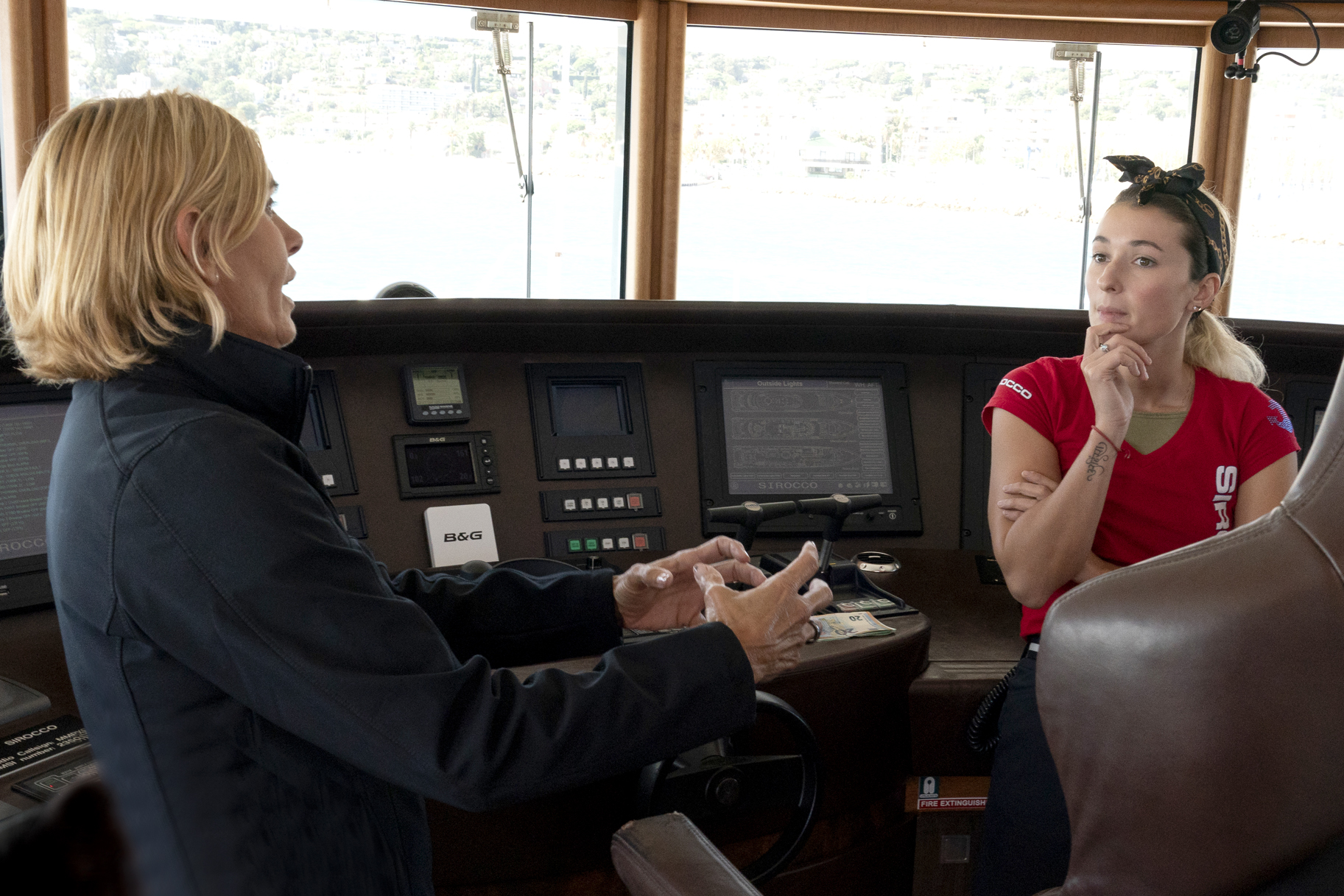 Captain Sandy Yawn, Anastasia Surmava in Below Deck Mediterranean Season 4