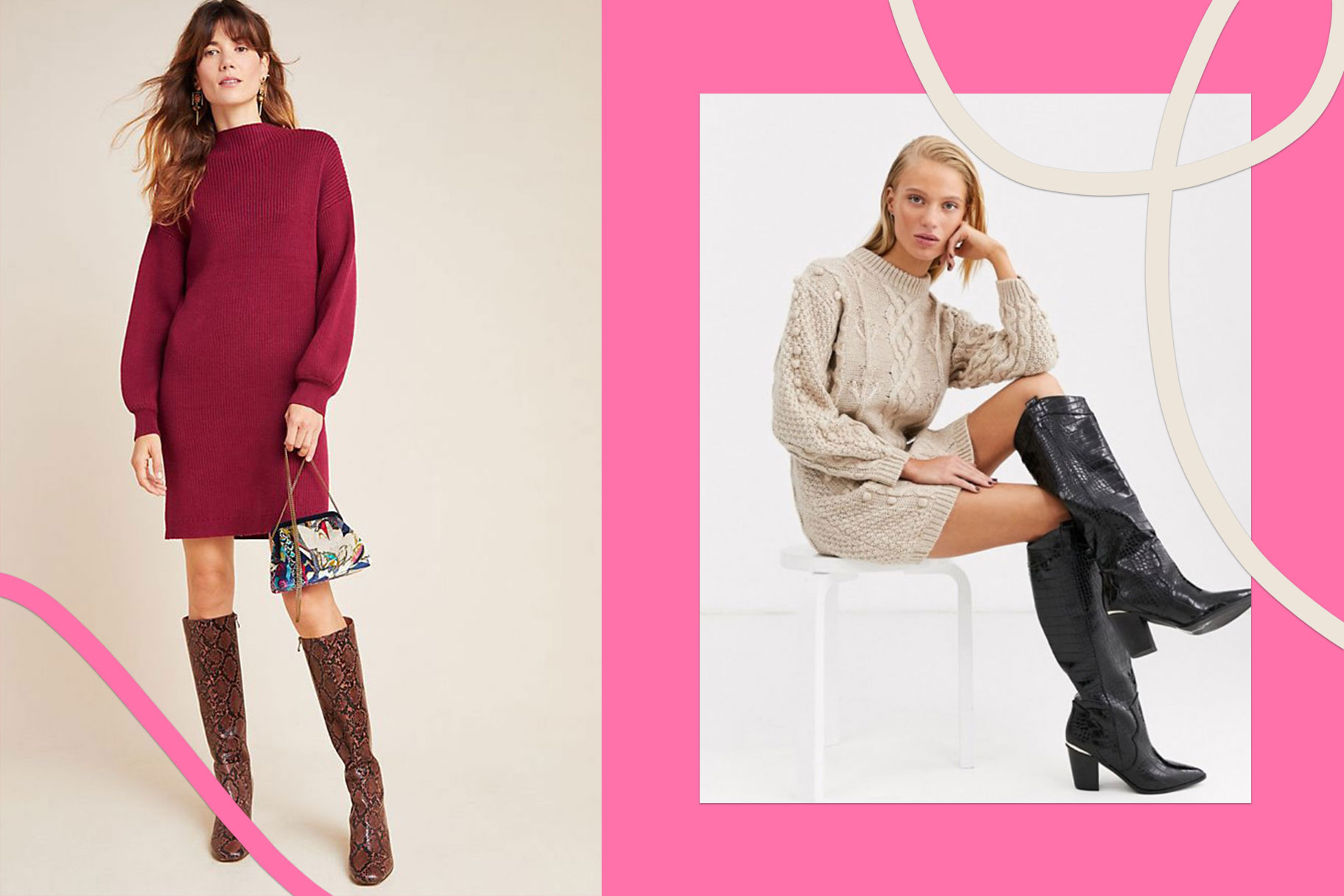 Sweater Dresses Winter Promote